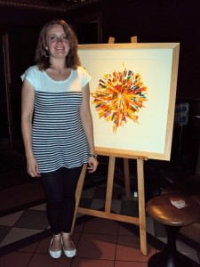 Julie Mailley with her artwork